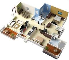 Outhouse Floor Plans by Bedroom House Floor Plans 3d Moreover 2 Bedroom House Plans