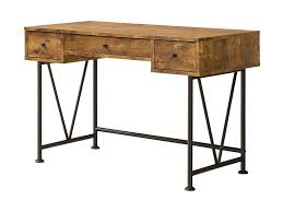 Antique Style Computer Desk Coaster Barritt Industrial Style Writing Desk With 3 Drawers Del
