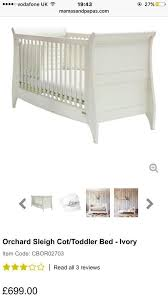 Sleigh Cot Bed New Mamas And Papas Orchard Sleigh Cot Bed In Larbert Falkirk
