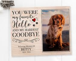 personalized in memory of gifts pet memorial etsy