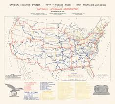 New Mexico Highway Map by 1913 Proposed National U S Highway Network U2013 Transit Maps Store