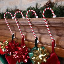 set of four candy cane stocking holders christmas https play