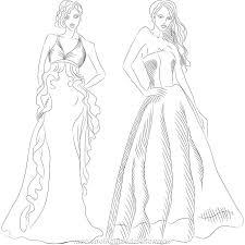 fashion design drawing dress free printable design photo