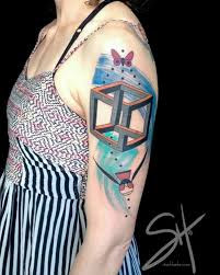 12 awesome optical illusion tattoos oddee