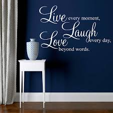 live laugh love wall stickers quotes by parkins interiors shown in white