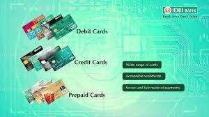bank prepaid debit cards idbi bank s wide range of debit credit prepaid cards