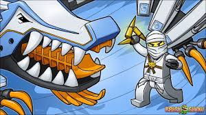 brickart lego ninjago zane and his ice dragon youtube