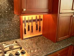 kitchen with granite countertops and knives holder buying tips