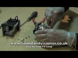 sony xl2400 tv lamp replacement installation video guide youtube