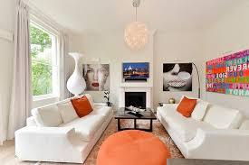 Scandinavian Area Rugs by Reception Room Living Scandinavian With Orange Synthetic Area
