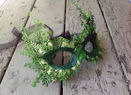 masquerade halloween party ideas elegant spring green poison ivy fern masquerade mask 70 00 via
