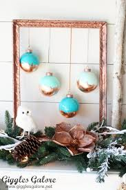 diy painted copper leaf ornaments