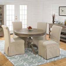 941 series slipcover skirted parson chairs in slater mill pine