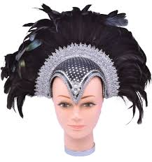 jewelled headdress black feather jewelled headdress fancy me limited
