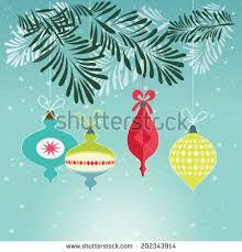 retro ornaments trees vector illustration stock vector
