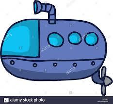 submarine cartoon for kids t shirt design vector illustration
