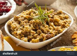 thanksgiving made bread herbs stock photo