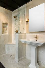 Bathrooms Design The Finish Bathroom Floor Featuring Pure White Carrara Marble Bathroom Designs