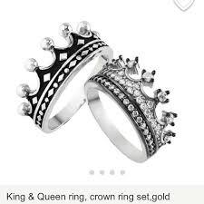 diamond king rings images Jewelry crown rings silver queen rings king rings poshmark jpg