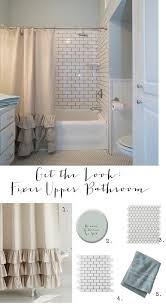 Our New Shower Curtain 10 Get The Look Fixer Upper Bathroom House Of Hargrove Get The