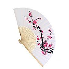 hand held fans for church amazon com danyoun folding hand held fan ladies womens silk cherry