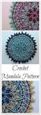 overlay crochet mandala pattern crocheted home decor fiber art