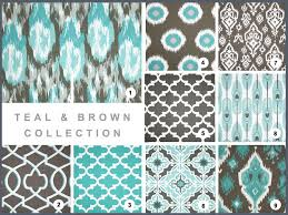 Turquoise And Brown Curtains Popular Of White Curtains With Brown Pattern Ideas With Blue
