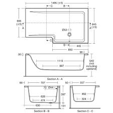 concept 150 x 85cm square shower baths bluebook resources to download
