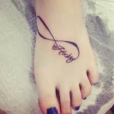 hockey infinity foot tattoo for girls infinity heart foot