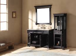 imposing woods materials to build black bathroom vanity design