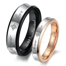 steel promise rings images Express love with couple promise rings wedding promise diamond jpg