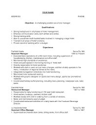 Sample Resume Objectives Tourism by Resume Sample For Hotel And Restaurant Management Frizzigame