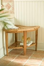 Teak Corner Shower Caddy Corner Shower Seat Self Standing Luxury Home Design