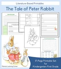 tale peter rabbit free printables free homeschool deals