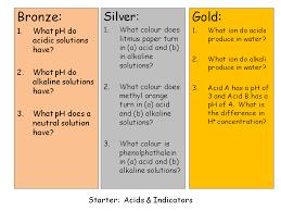 starters acids and alkali gcse edexcel 9 1 by chemistryteacher001