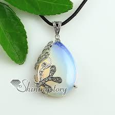 stone necklace pendants images Teardrop wave rose quartz glass opal turquoise jade semi precious jpg