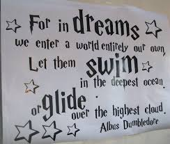harry potter quote 2 dreams