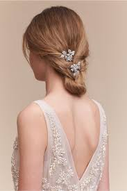 bridal hair clip petunia hair 2 silver in bhldn