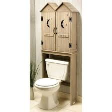 bathroom wooden bathroom storage over toilet with louvered
