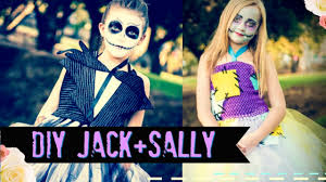 diy jack skellington and sally no sew costume nightmare before