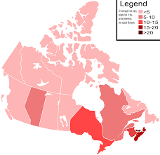 population density map canada population density map my