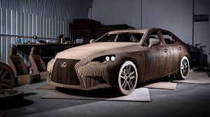 lexus is300h autoweek lexus made a working electric car out of cardboard cars