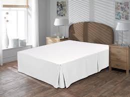 Bed Frame Skirt Utopia Bedding Cotton Sateen Bed Skirt White