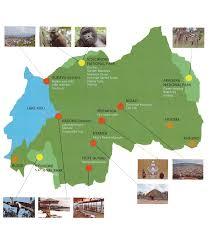 Map Of Rwanda 8days Rwanda Primate Adventure