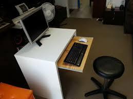 Ikea Drafting Table Furniture Computer Desk With Keyboard Tray Keyboard Tray Ikea
