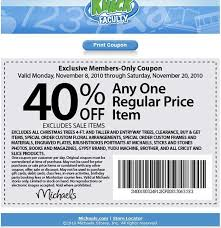 Printable Bed Bath And Beyond Coupon Michaels Canada 40 Off One Regular Priced Item Until November