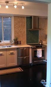 tile accents for kitchen backsplash crackle glass tiles accent wall kitchen los angeles by my