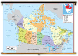 Map Of Canada Cities And Provinces by Canada Political Classroom Map From Academia Maps