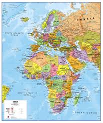 Physical Europe Map by Europe Middle East Africa Emea Physical Map