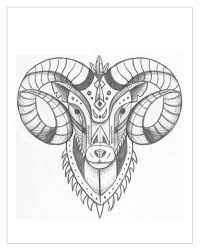 aries illustration for designers create your own geometric